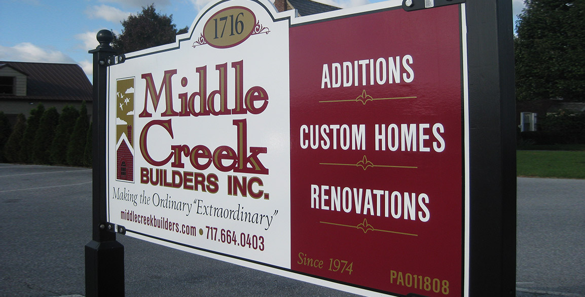 Middle Creek Builders Sign